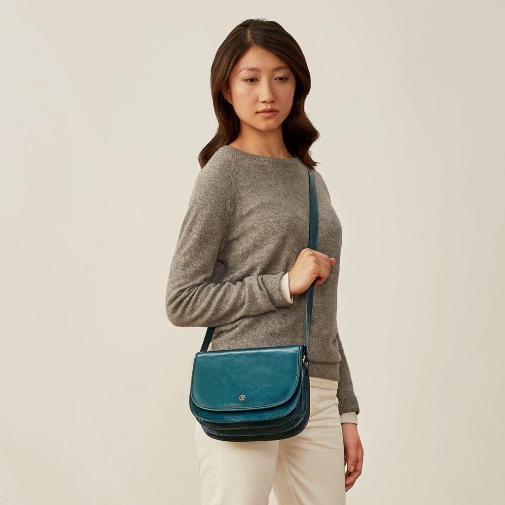 sac cuir bleu