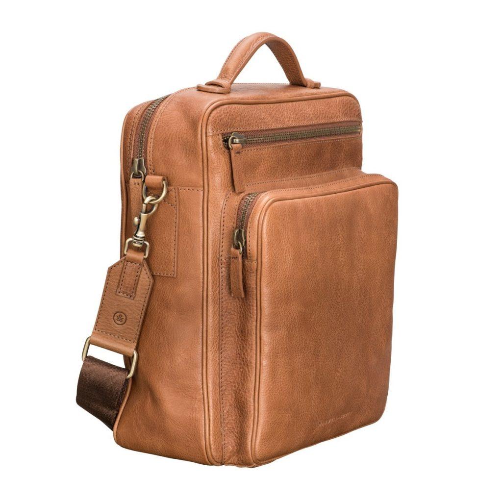 sac dos cuir camel