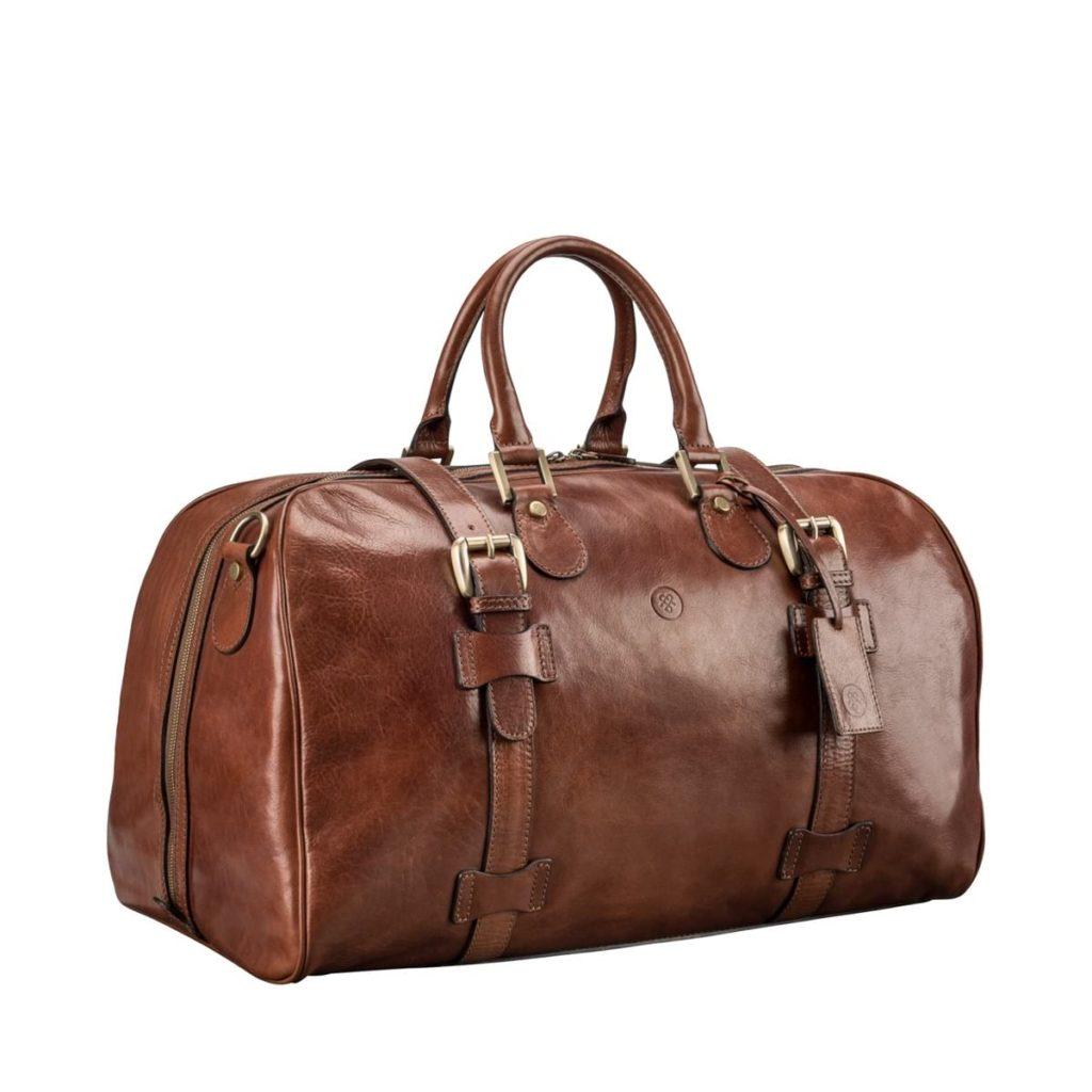 sac voyage cuir marron