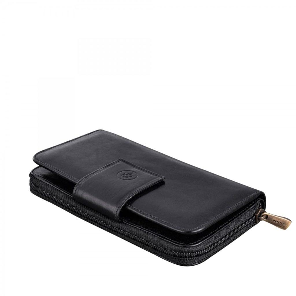 portefeuille femme cuir noir
