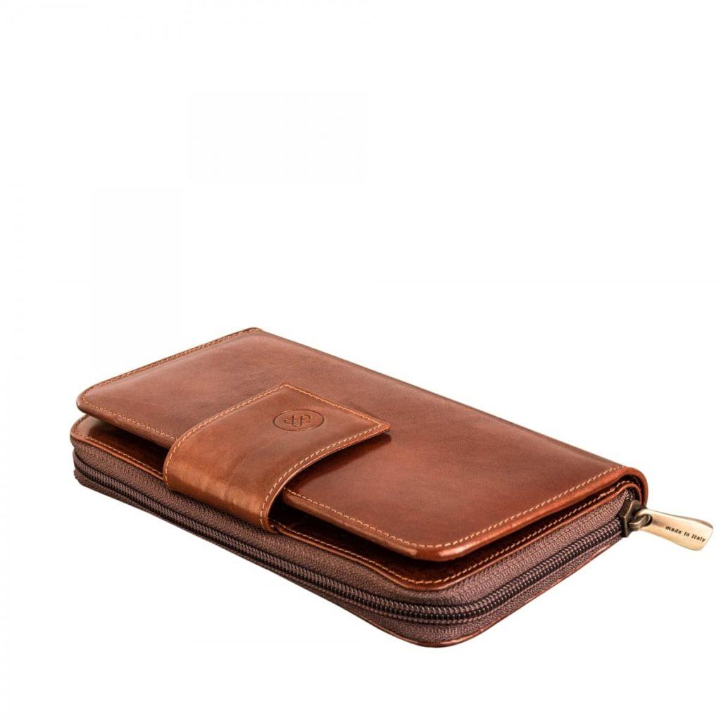 portefeuille femme cuir marron