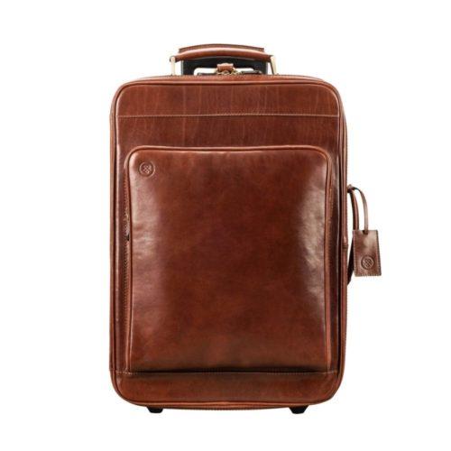 valise cuir marron